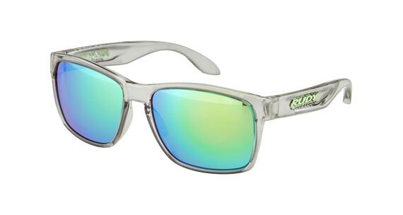Rudy Project Spinhawk Glasses Crystal Ash/Multilaser Green